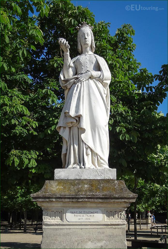 Luxembourg Gardens Anne De Bretagne Statue