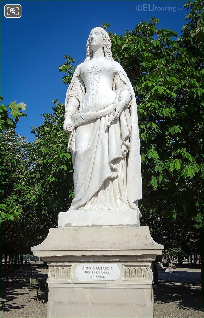 Anne d'Autriche Statue By Joseph Marius Ramus