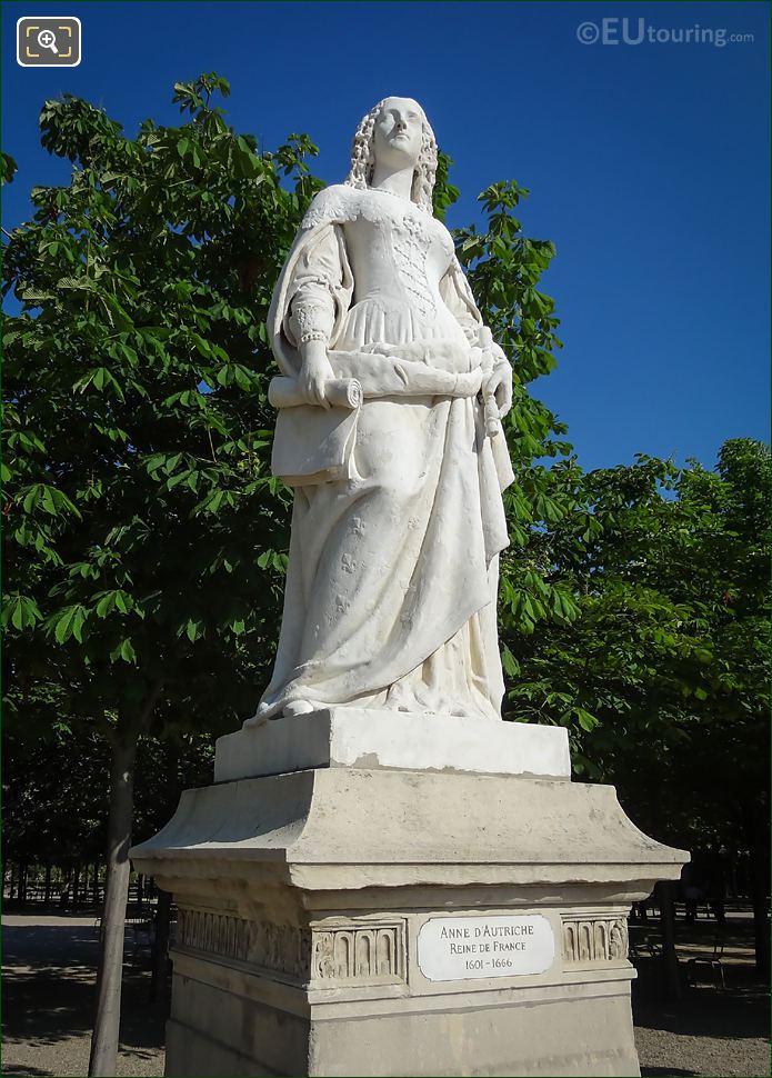 1847 Marble Statue Of Anne d'Autriche