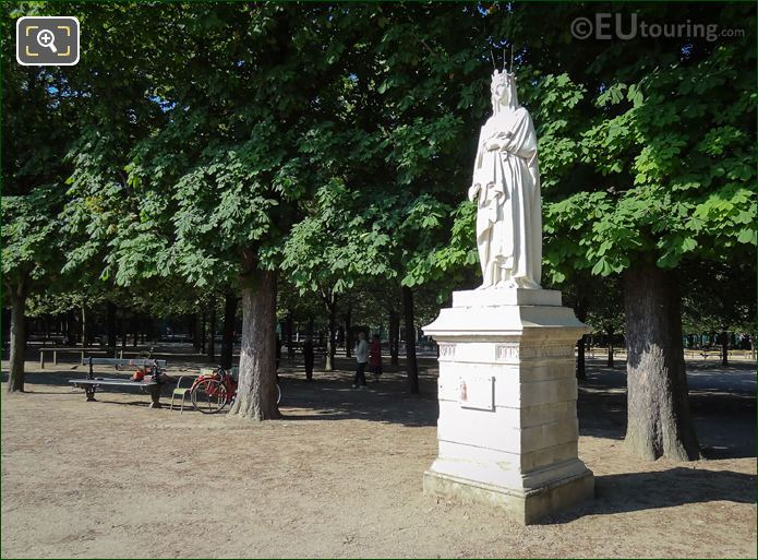 Statue Of French Queen Blanche Of Castile