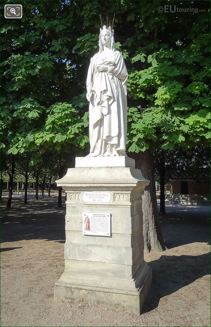 Marble Statue Blanche Of Castile On Pedestal