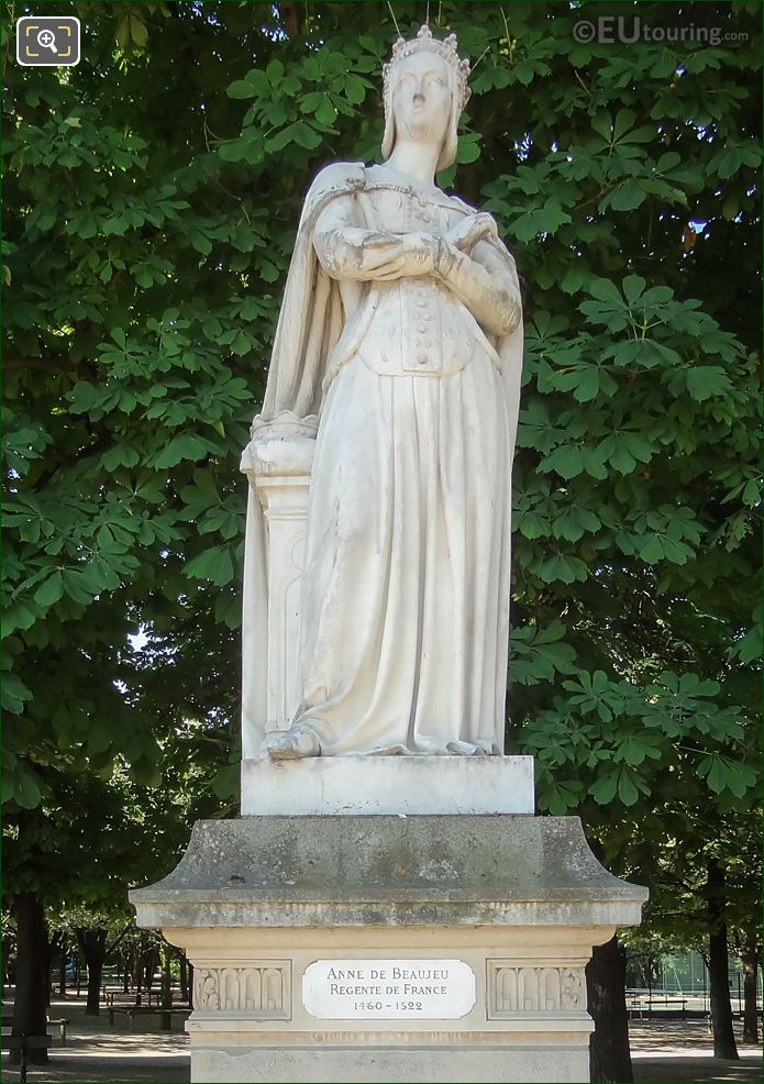 Anne De Beaujeu Statue By Jacques Edouard Gatteaux