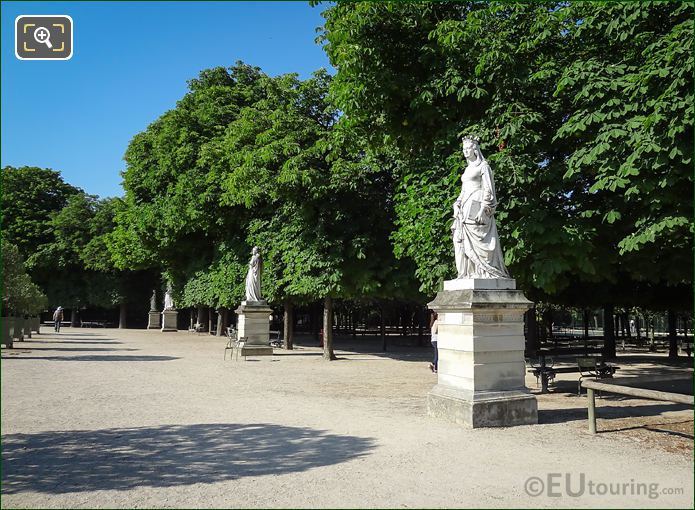 Luxembourg Grdns Western Terrace Statue Duchess Of Orleans