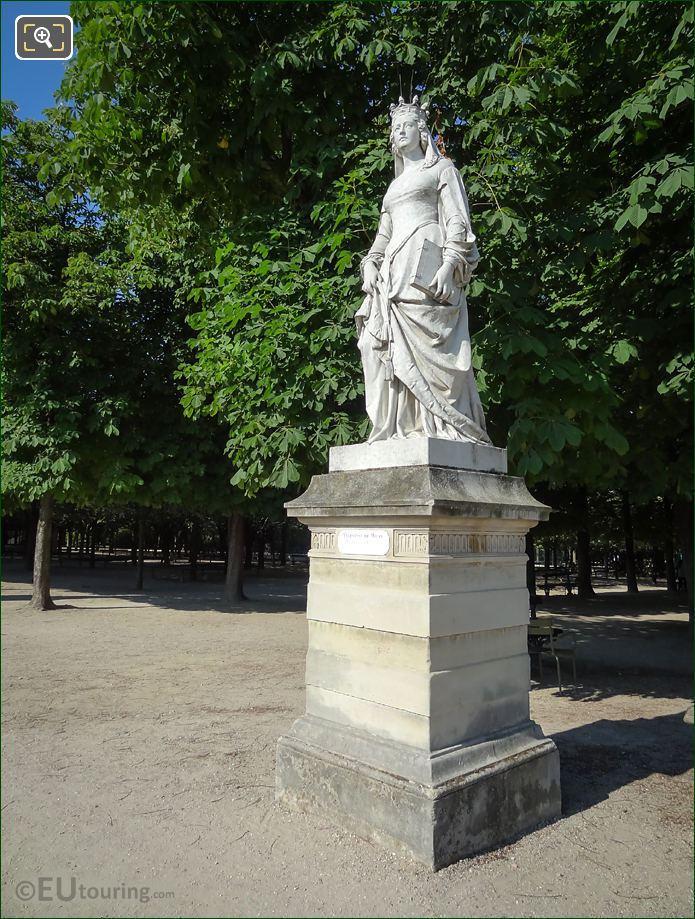 Statue Of Duchess Of Orleans Valentine De Milan