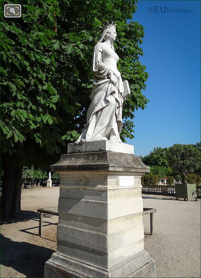 Valentine De Milan Statue Luxembourg Gardens