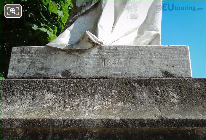 Year Inscription On Valentine De Milan Statue