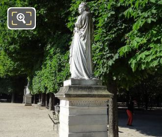 Marguerite d'Angouleme Statue On Stone Base