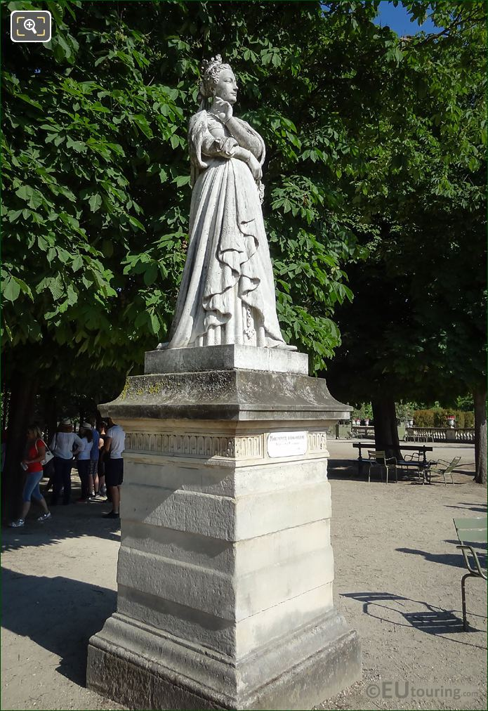 Luxembourg Gardens Marble Statue Marguerite d'Angouleme