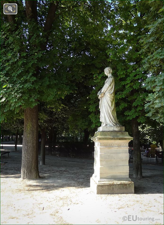 Luxembourg Gardens Statue Laure De Noves