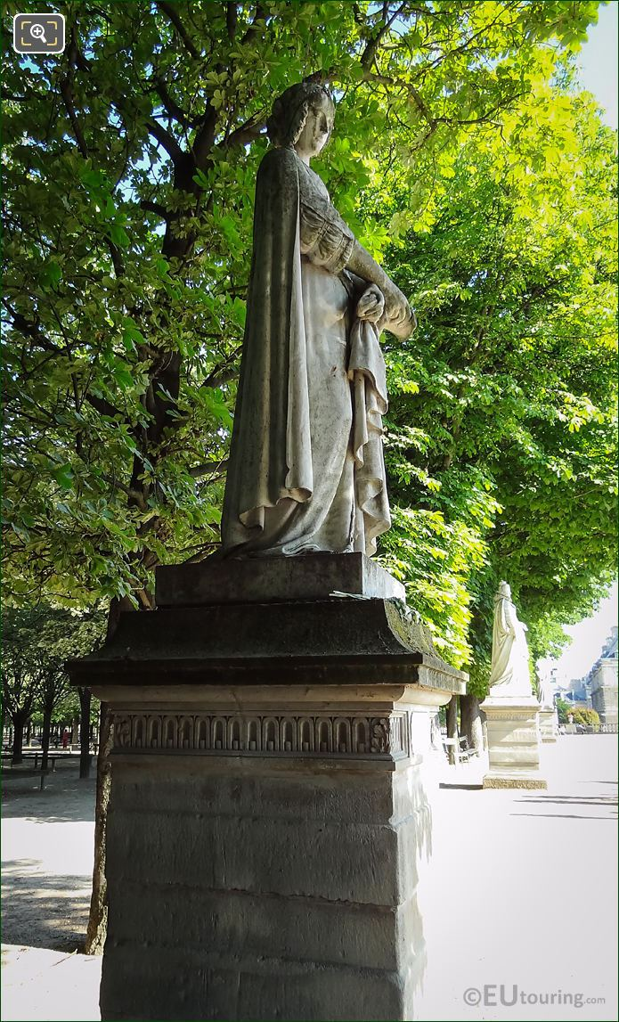Laure De Noves Statue Side View