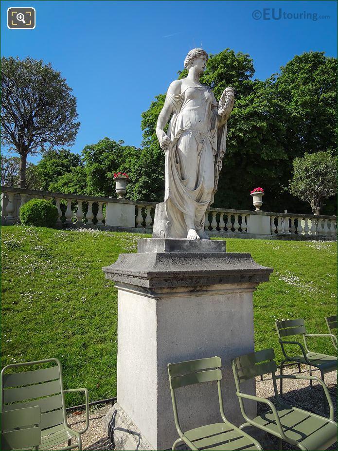 Jardin Du Luxembourg Antique Sculpture Flora