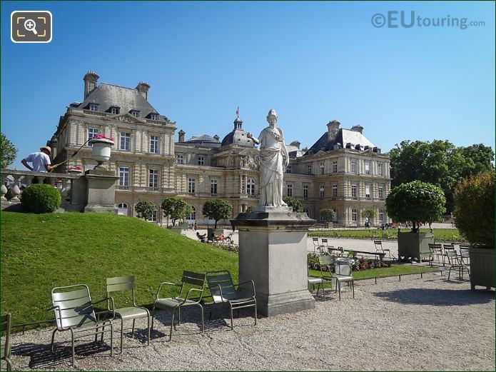 Goddess Of Wisdom Statue Palais Du Luxembourg