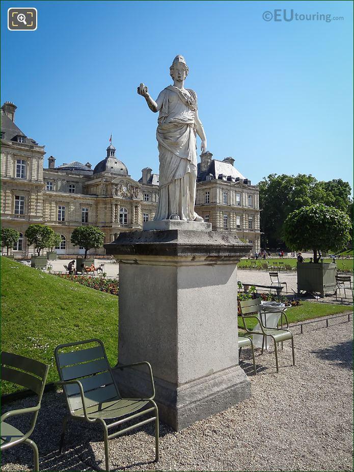 Minerve A La Chouette Statue On Pedestal