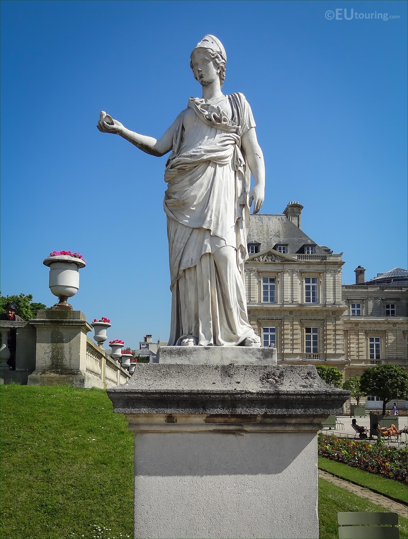 Minerva The Goddess Of Wisdom Statue In Luxembourg Gardens