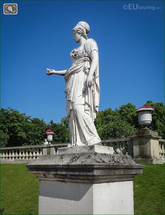 Luxembourg Gardens Minerva Statue