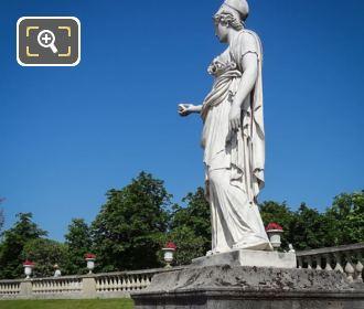 Goddess Of Wisdom Statue Minerve A La Chouette