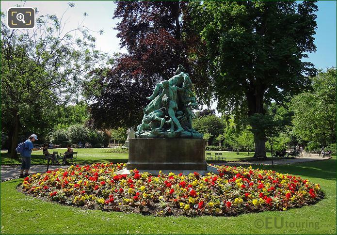 Bronze Statue Group Triomphe De Silene