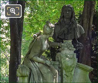 Monument A Watteau By Henri Desire Gauquie