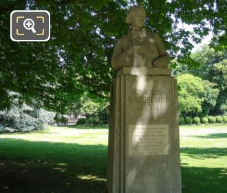 Luxembourg Gardens Monument Charles Baudelaire