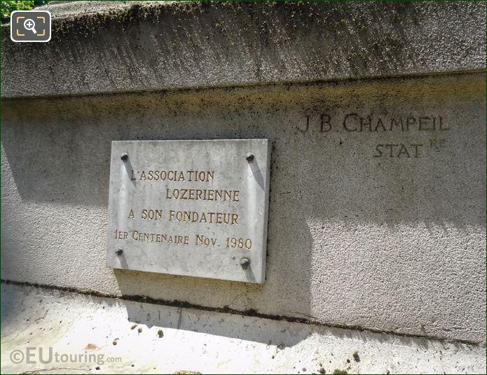 Lozerienne Plaque On Theophile Roussel Monument