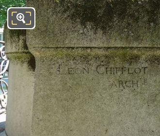 Leon Chifflot Inscription On Theophile Roussel Monument