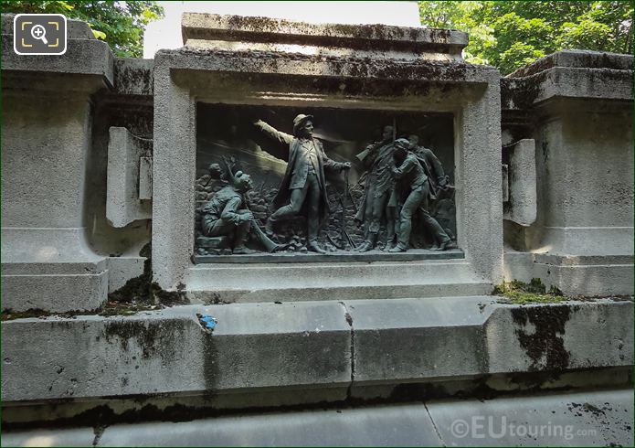 South Side Bronze Bas Relief On Raspail Monument