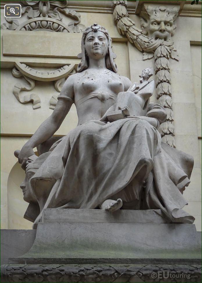 L'Art Egyptien Statue By Auguste Suchetet