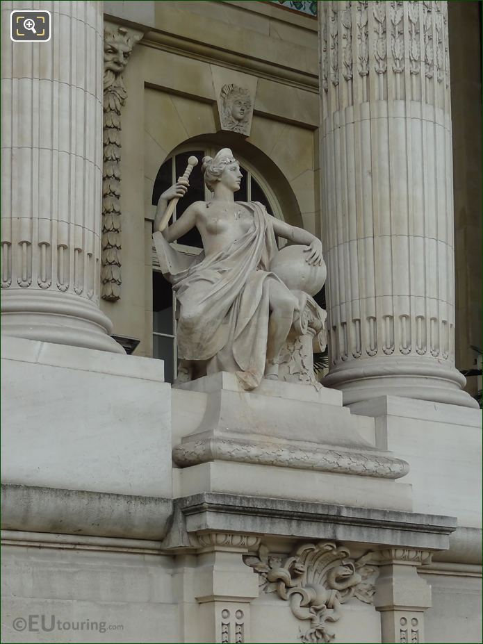 Grand Palais Allegorical Statue Roman Art