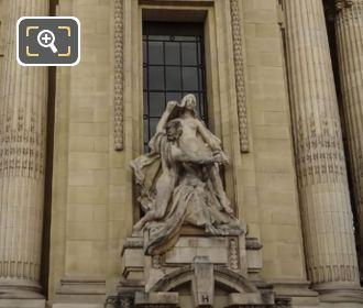 Front Of L'Art Et La Nature Sculpture Next To Grand Palais