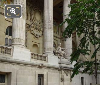 Grand Palais NE Colonnade With Contemporary Art Statue