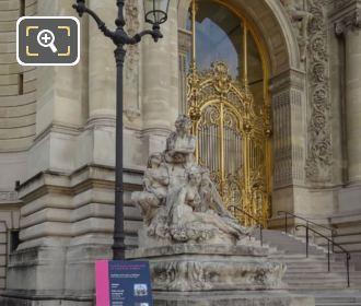 Les Quatre Saisons Statue Petit Palais Staircase
