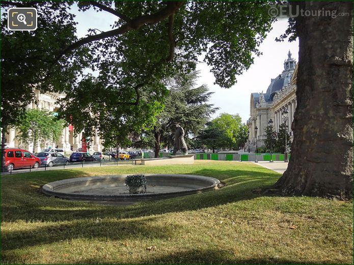Petit Palais Garden Winston Churchill Statue