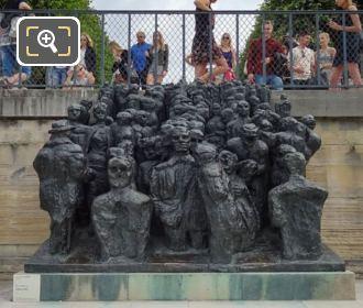 La Foule Sculpture On Stone Base