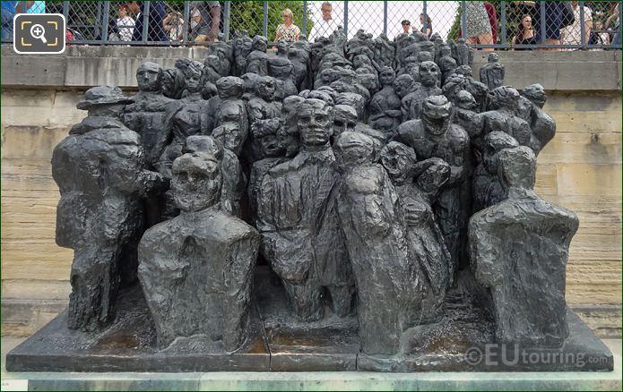 La Foule Bronze Statue By Raymond Mason