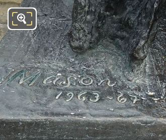 Artist Name Inscription On La Foule Sculpture