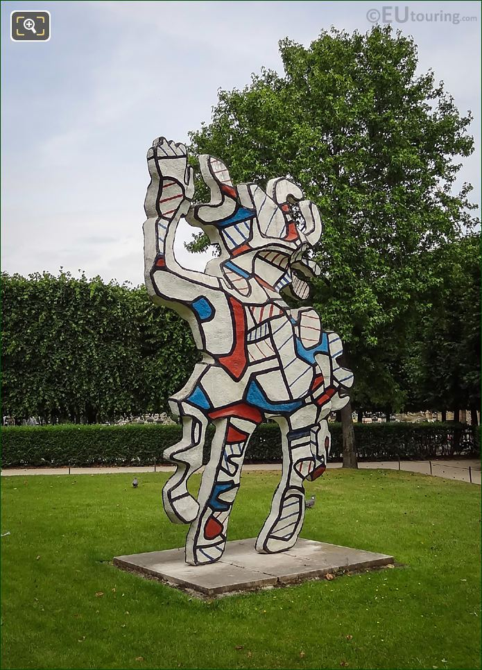 The Beautiful Costume Statue By Jean Dubuffet