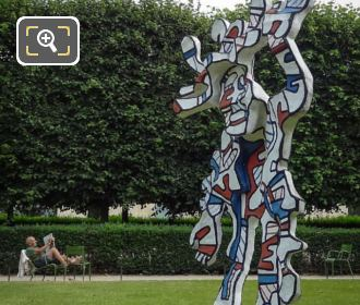 Le Bel Costume Statue By Sculptor Jean Dubuffet