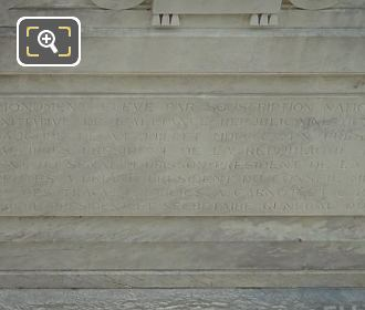 Back Inscription On The Waldeck-Rousseau Monument