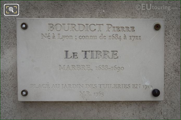 Plaque For Le Tibre Statue Group