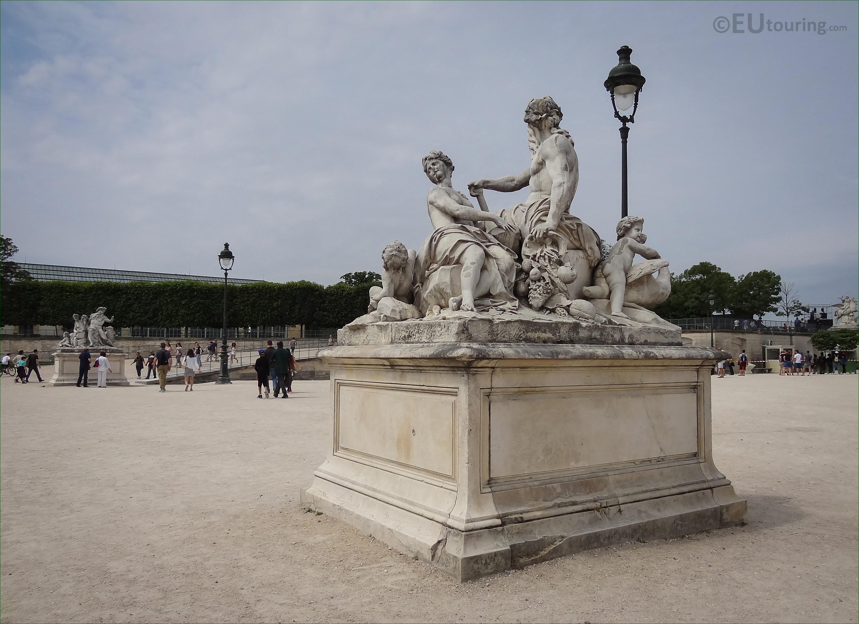 La seine et la marne statue in tuileries gardens paris page 133 - Statues jardin des tuileries ...