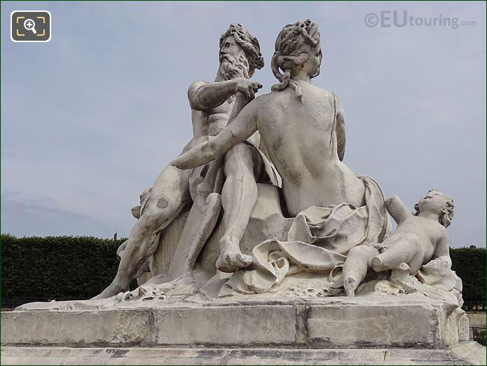 La Seine Et La Marne Statue By Nicolas Coustou
