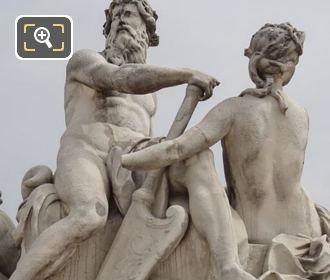 Front Of La Seine Et La Marne Statue