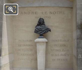 Andre Le Notre Statue Under Terrasse Du Jeu De Paume