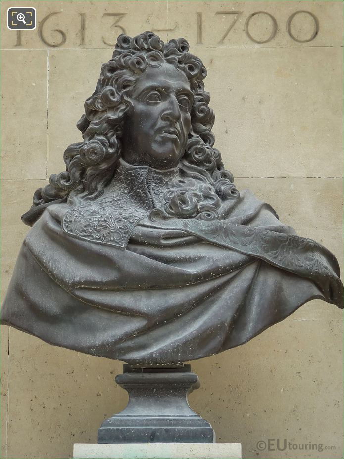 Bronze Bust Of Andre Le Notre By Antoine Coysevox