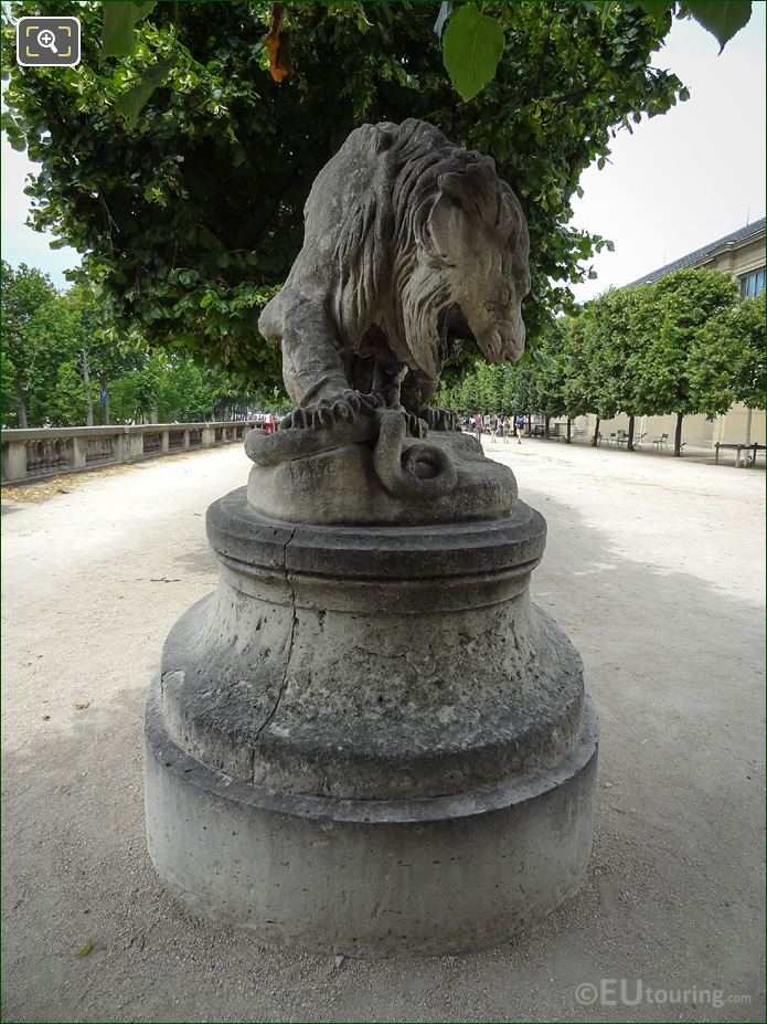 Antoine-Louis Barye Statue Lion And Snake