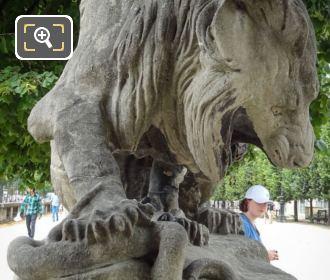 Lion Au Serpent Statue By Antoine-Louis Barye