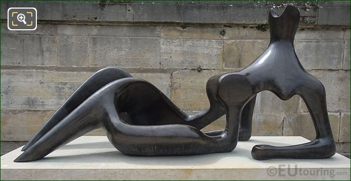 Bronze Reclining Figure Sculpture By English Sculptor Henry Moore
