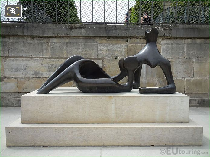 Bronze Reclining Figure Sculpture On Stone Base