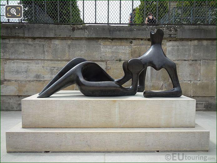 Bronze Reclining Figure Sculpture On Stone Base