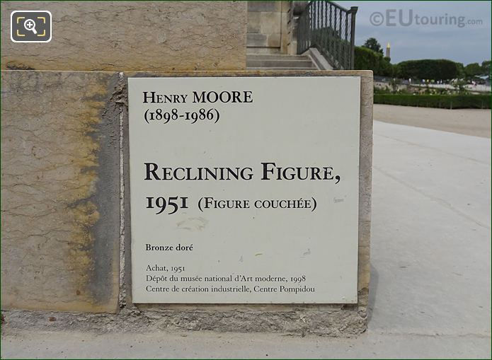 Tourist Information Plaque For The Reclining Figure Sculpture